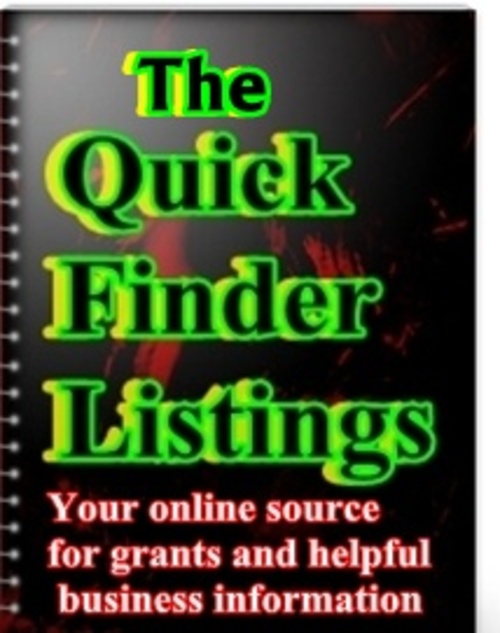 Product picture The Quick Finder Listings